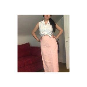 1950's Pink A-line Skirt by Henry Rosenfeld